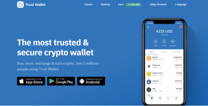 کیف پول پولکادات trust wallet